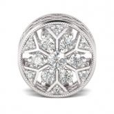 Snowflake Charm Sterling Silver