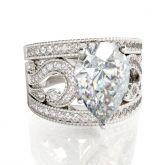 Jeulia 3PC Pear Cut Sterling Silver Ring Set