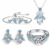 Jeulia Butterfly Round Cut Sterling Silver Earrings
