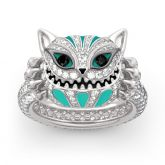"""Grinning Like a Cheshire Cat"" Sterling Silver Enamel Ring"