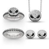 """""""Pumpkin King"""" """"Jack Skull""""Sterling Silver Skull Necklace"""