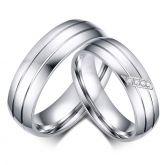 Simple Couple Rings Titanium Steel