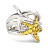 Jeulia Starfish Sterling Silver Ring