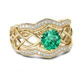 Jeulia Interwoven Round Cut Sterling Silver Ring