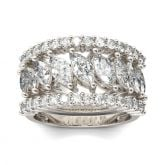 Jeulia 3PC Marquise Cut Sterling Silver Women's Band Set