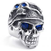 Jeulia  Bold Titanium Steel Men's Skull Ring