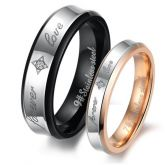 Two Tone Titanium Steel Band Set