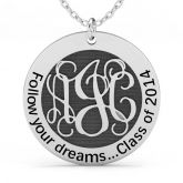 Jeulia  Follow Your Dreams Monogram Necklace Sterling Silver