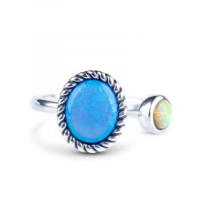 Jeulia Be Together Opal Ring