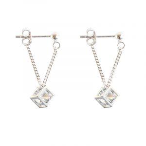 Jeulia  Cubic Sterling Silver Earring Drops