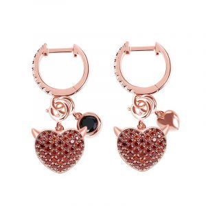 Jeulia Devil with Kind Heart Earrings