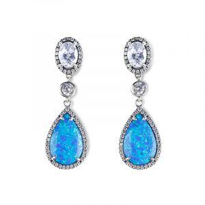 Jeulia Dreamlike Blue Opal Earrings