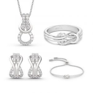 Jeulia Infinity Love Sterling Silver Jewelry Set