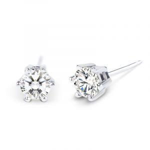 Jeulia Simple Crown  Sterling Silver Stud Earrings