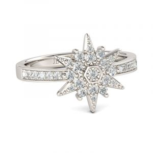 Jeulia Star Sterling Silver Ring