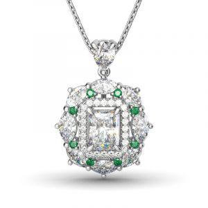 Jeulia Cinderella Pendant Necklace