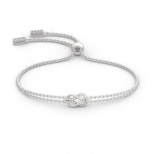 Jeulia Infinity Love Sterling Silver Bracelet