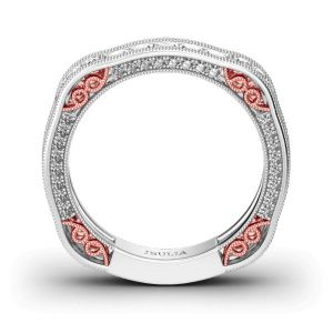 Jeulia Irregular Sterling Silver Women's Band