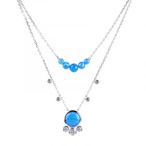 Jeulia Love in the Galaxy Double Layered Necklace