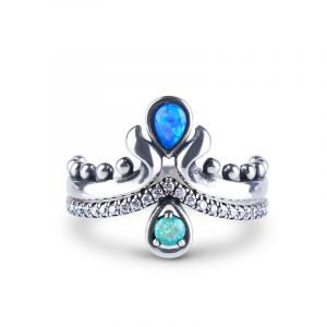 Jeulia Mermaid Teardrop Stackable Opal Ring