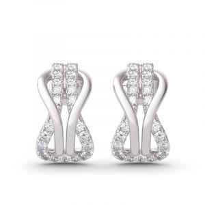 Jeulia Infinity Love Sterling Silver Earrings