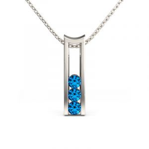 Jeulia Modern Design Sterling Silver Pendant Necklace