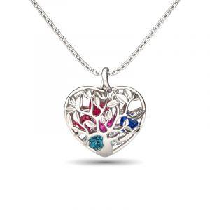 Jeulia Birthstone Heart Pendant Necklace