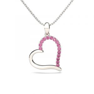 Jeulia Loving Heart Sterling Silver Necklace