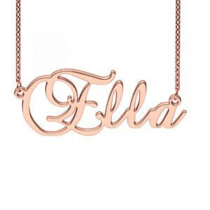 Jeulia Personalized Brockscript Style Name Necklace