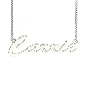 Jeulia Carrie Style Sterling Silver Name Necklace