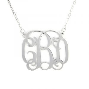Jeulia Classic Sterling Silver Monogram Necklace