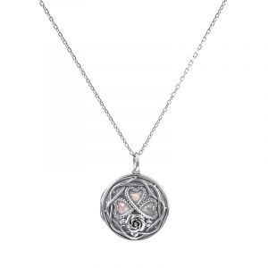 Jeulia Heart and Rose Locket Necklace