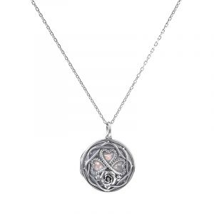 Jeulia Heart and Rose Locket Necklace