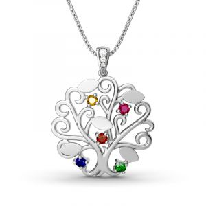 Jeulia Dancing Tree Pendant