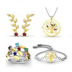 Jeulia Tree of Life Sterling Silver Jewelry Set