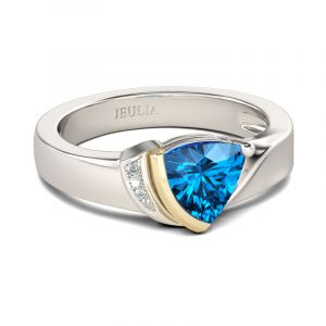 Jeulia Asymmetric Trillion Cut Sterling Silver Ring
