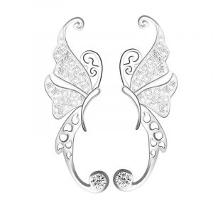 Jeulia  Butterfly Ear Climbers