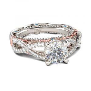 Jeulia Milgrain Intertwined Round Cut Sterling Silver Ring