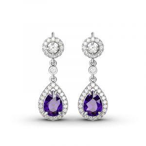 Jeulia Charming Tear Drop Earrings