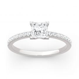 Moissanite Princess Cut Gold Ring