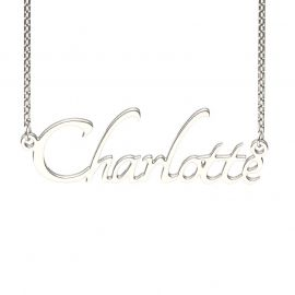Silver Tangerine Style Name Necklace