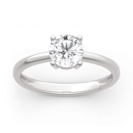 Moissanite Round Cut Solitaire Gold Ring