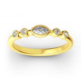 Stackable Milgrain Sterling Silver Ring