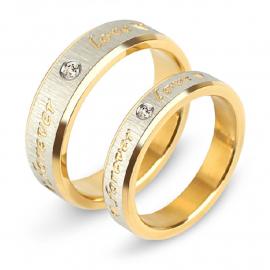 Forever Love Titanium Steel Couple Ring