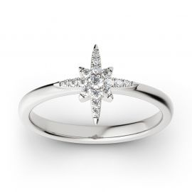Stackable Star Sterling Silver Ring