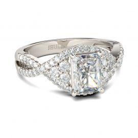 Twist Radiant Cut Sterling Silver Ring