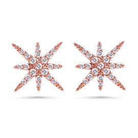 Star Sterling Silver Stud Earrings