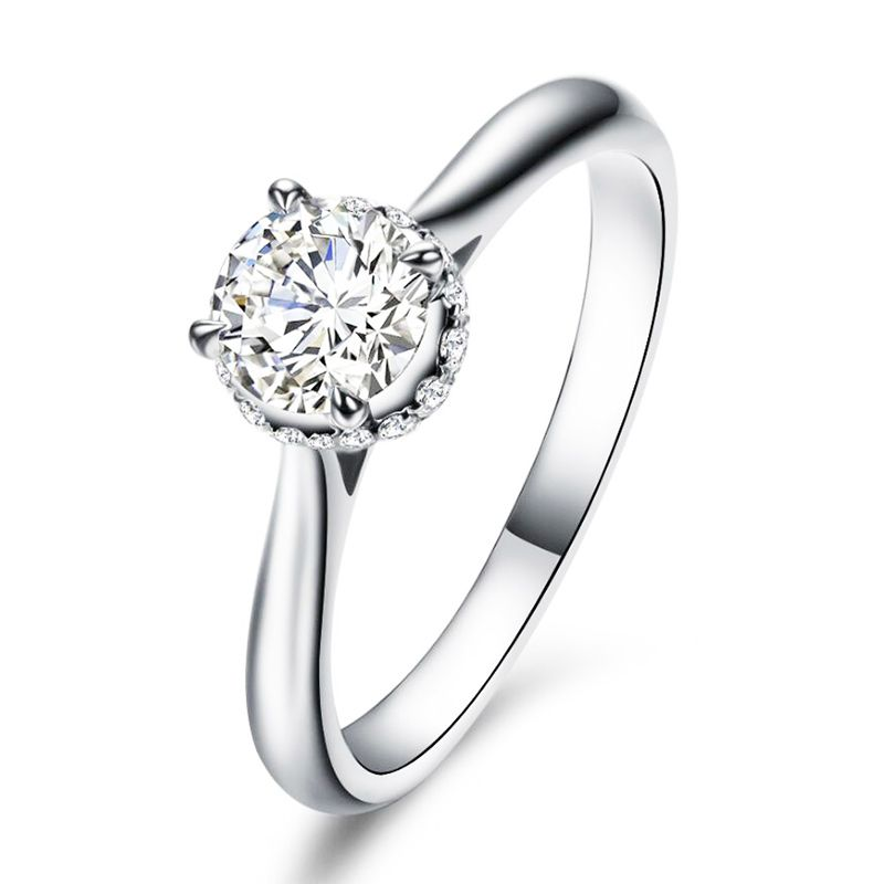 Solitaire Round Cut Sterling Silver