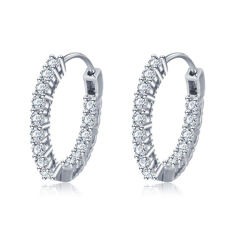 1ab930dc3 Classic Sterling Silver Hoop Earrings - Jeulia Jewelry