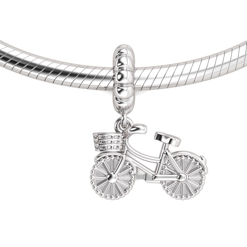Bicycle pendant sterling silver jeulia jewelry bicycle pendant sterling silver aloadofball Image collections